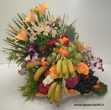 bouquet de fleurs fruits. Black Bedroom Furniture Sets. Home Design Ideas